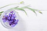 lavender white wooden table