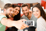 Group selfie at the coffee shop - 244196841