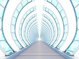 Fototapeta Do przedpokoju - tunnel futuristic ribbing © Alexei Sysoev