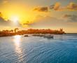 Leinwandbild Motiv Nova Tabarca island port in Spain