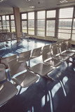 Airport empty waiting room, color toned picture. - 244245011