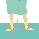 golf player feet with stick - 244248818