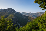 Stunning landscape of south eastern France as seen from the Alpes Maritime village of Sainte Agnes - 244279476