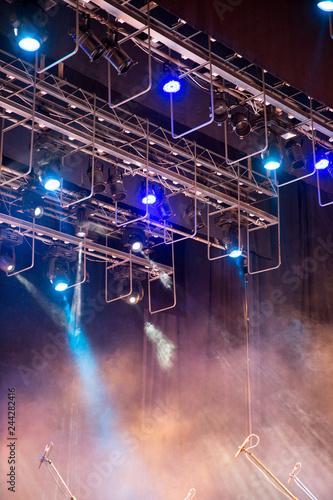 Stage lights. Soffits. Concert light - 244282416