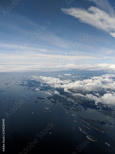 aerial view from the plane - 244286440