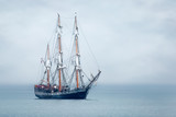 Tall Ship anchored in St Austell Bay, Cornwall - 244314673