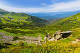 green mountain valley summer landscape - 244328893