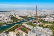 Paris aerial panoramic view, France
