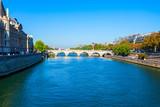 Bridge through Seine river, Paris
