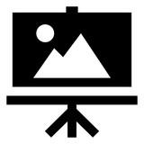 Art Easel Vector Icon - 244347000