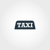 Taxi creative icon. Simple element illustration. Taxi concept symbol design from airport collection. Perfect for web design, apps, software, print. - 244355866