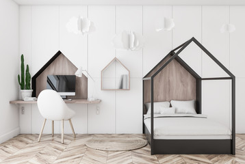 White kids bedroom interior