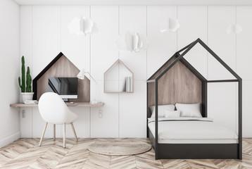 White kids bedroom interior