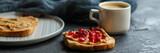 sandwich, pomegranate, peanut butter (sweet snack). Top Food background
