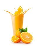 Orange slice splash in smoothie or yogurt - 244385461