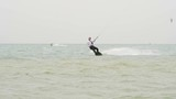 Young Man Kitesurfing in Ocean, Extreme summer sport hd, Slow motion - 244404049