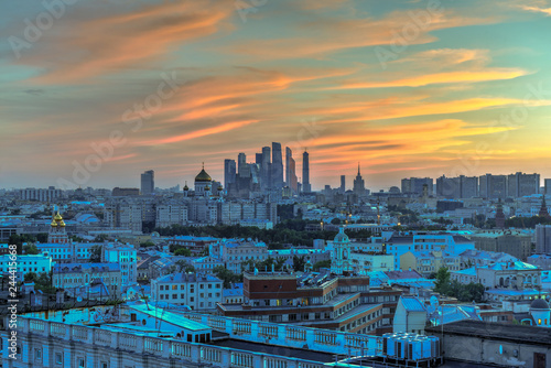 Wall mural Moscow Skyline - Russia