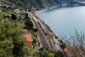 view of cinque terre italy, in cinque terre, Liguria, Italy © underworld