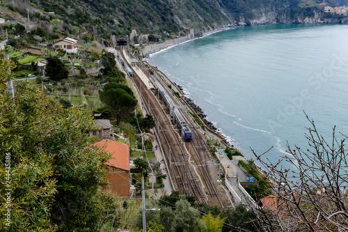 view of cinque terre italy, in cinque terre, Liguria, Italy