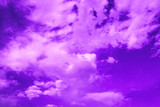 violet sky with clouds