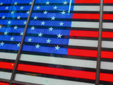 USA - Time square / Bright American Flag
