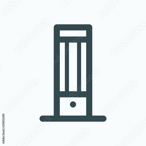 Carbon Heater Icon Infrared Carbon Heater Vector Icon Buy Photos