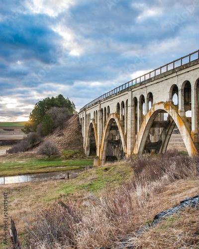 Wall mural Old concrete trestle style bridge in the Palouse area of Washington