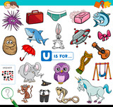 U is for educational game for children - 244588202