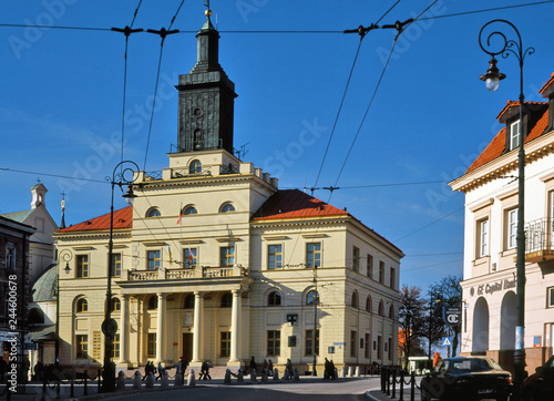 Zdjęcia na płótnie, fototapety na wymiar, obrazy na ścianę : Poland: March, 2011: Town Hall in Lublin city