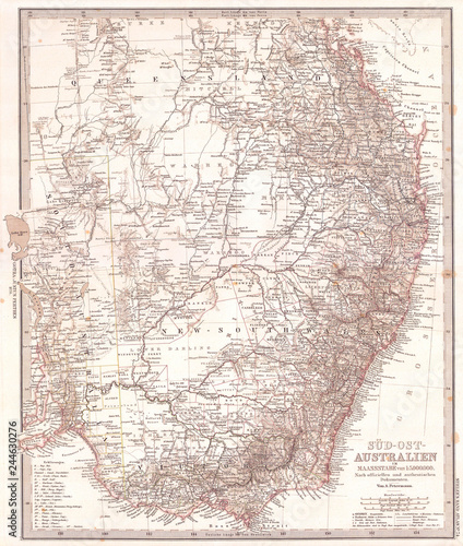 Map Of Australia To Buy.1876 Stieler S Map Of Southeastern Australia Buy Photos Ap