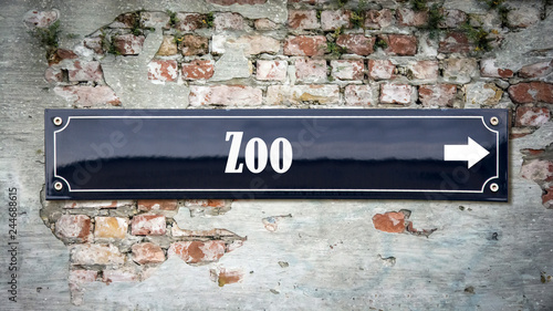 Poster Schild 390 - Zoo