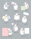 Cute sheep note set