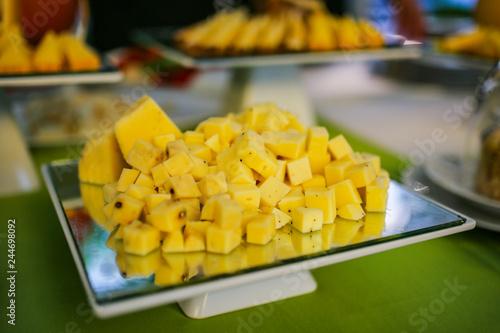 Ananas Buffet dettaglio frutta - ananas - buffet | buy photos | ap images | detailview