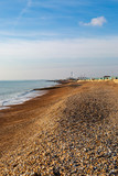 Looking along the pebble beach at Hove, towards Shoreham in the west