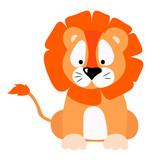 vector illustration lion cartoon