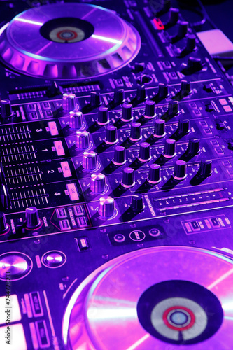 DJ control gear, electronic night party - 244720213