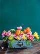 Leinwanddruck Bild - Froehliche Blumen im Fruehling