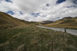 Lindis pass, Highway 8 on southern island of New Zealand - 244805019