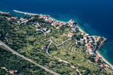 An aerial view of village of Drasnice located on Makarska Riviera, Croatia