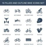 16 bike icons