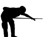 Billiards player silhouette