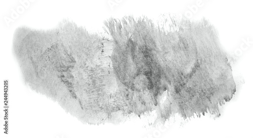 fototapeta na ścianę Abstract watercolor background hand-drawn on paper. Volumetric smoke elements. Neutral Gray color. For design, web, card, text, decoration, surfaces.