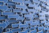 3D Illustration blaue Pfeile - 244950053