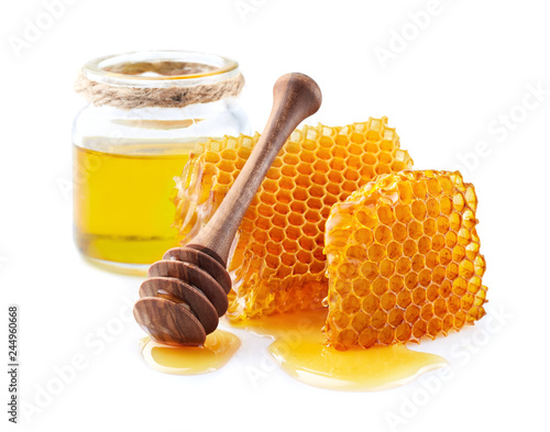 Honeycombs with honey © Dionisvera