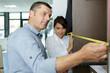 furniture measuring in store - 244992822