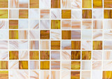 Mosaic tiles in the interior of the bathroom. Background of ceramic tiles mosaic. - 245004448