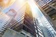 Leinwanddruck Bild - Modern office buildings in city