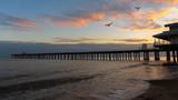 Fototapeta Zachód słońca - Pier at sunset © StepSims8971