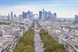 Fototapeta Wieża Eiffla - Paris- Vue aérienne © L.Bouvier