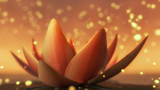 a mystical lotus blossom (3d rendering)